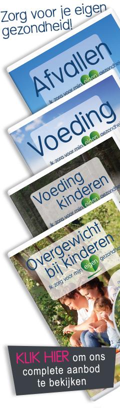 De dvd's over voeding en afvallen van Stichting Gezondheid Nederland